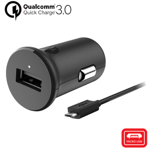 TurboPower 18 Car Charger with micro USB Data Cable