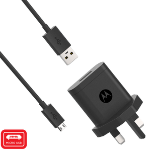 Motorola 10W Rapid Wall Charger with micro USB Data Cable