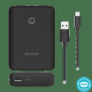 Motorola TurboPower PowerBank 10000 mAh ECO Portable Charger with USB-C Data Cable